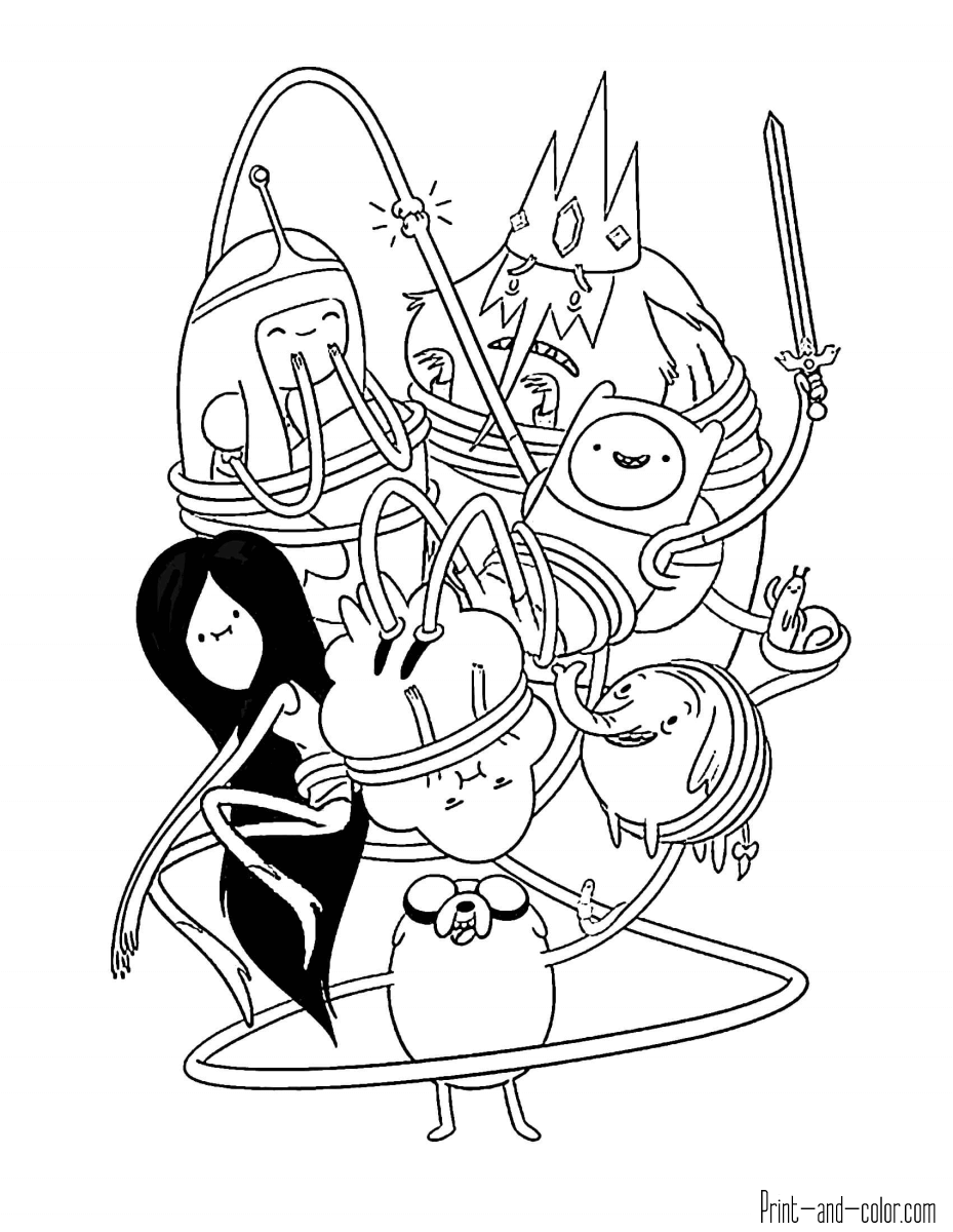 Adventure Time coloring pages | Print and Color.com