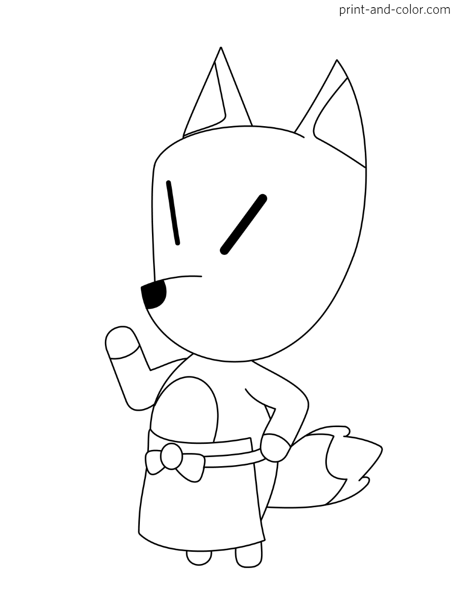 Animal Crossing Coloring Pages Print And Color Com