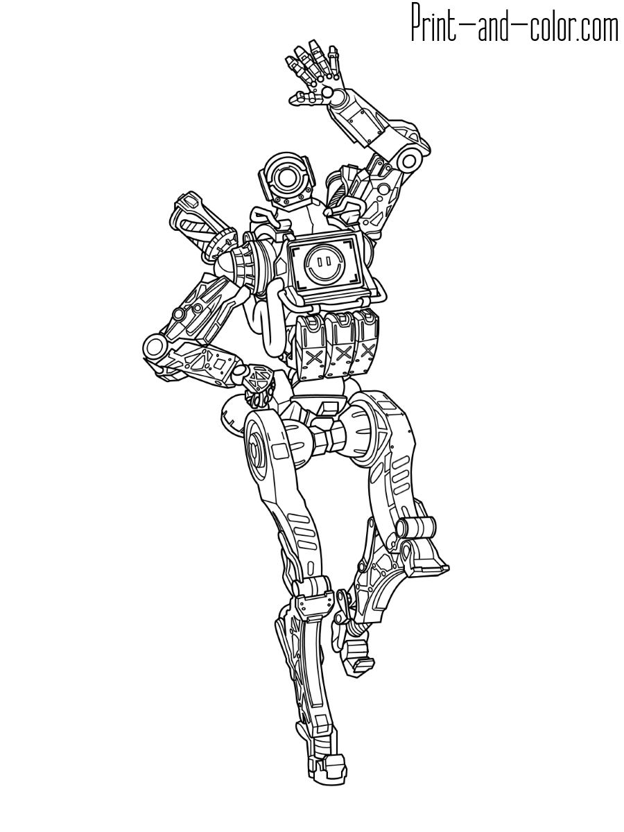 Apex Legends coloring pages | Print and Color.com
