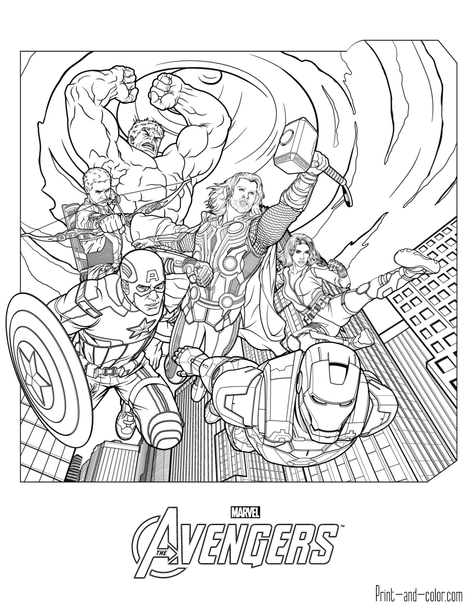 Avengers coloring pages | Print and Color.com