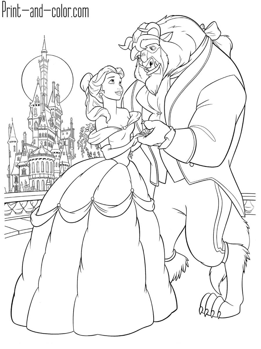 Beauty and the Beast coloring pages | Print and Color.com