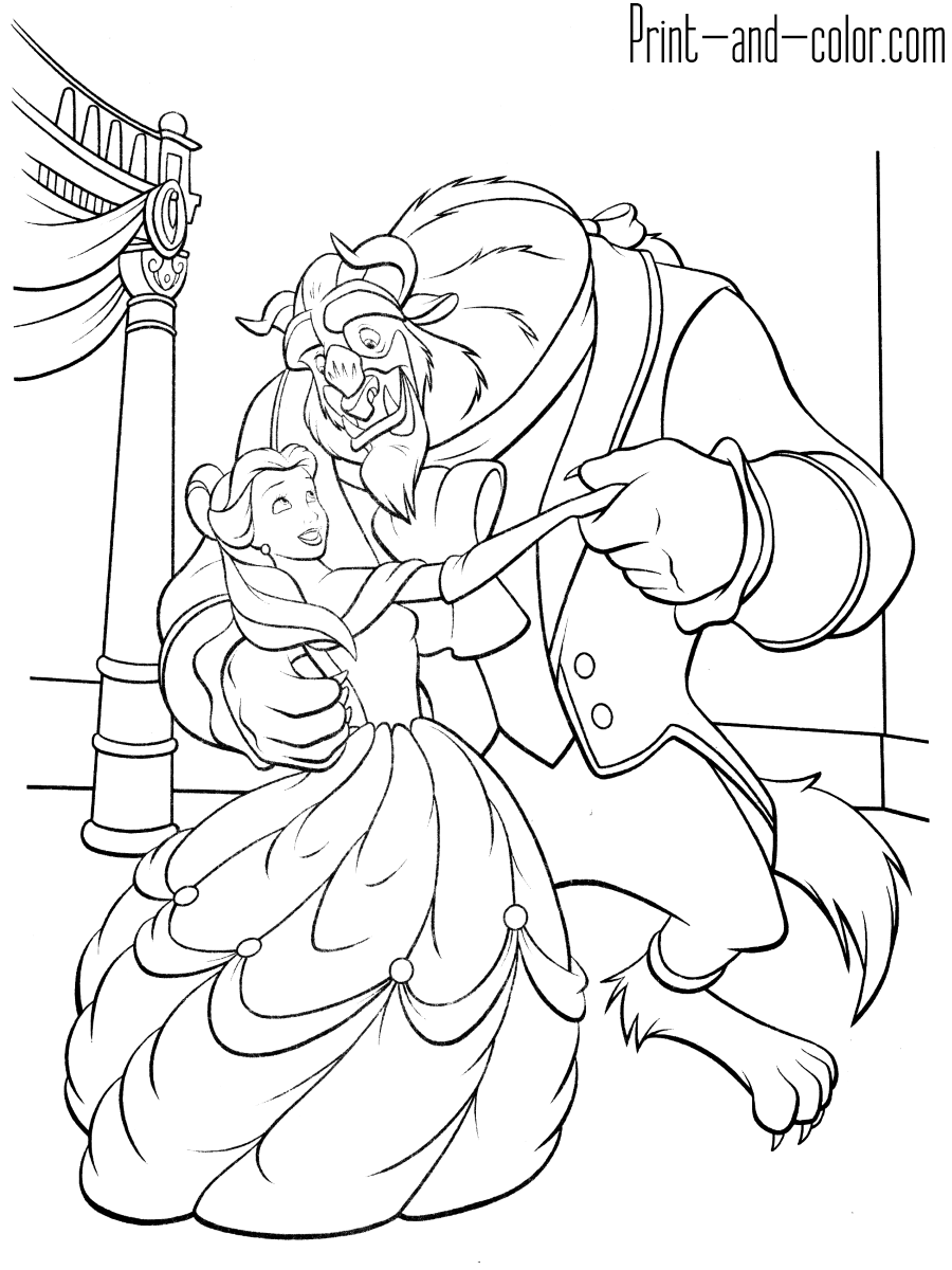 Beauty And The Beast Coloring Pages Print And Color Com