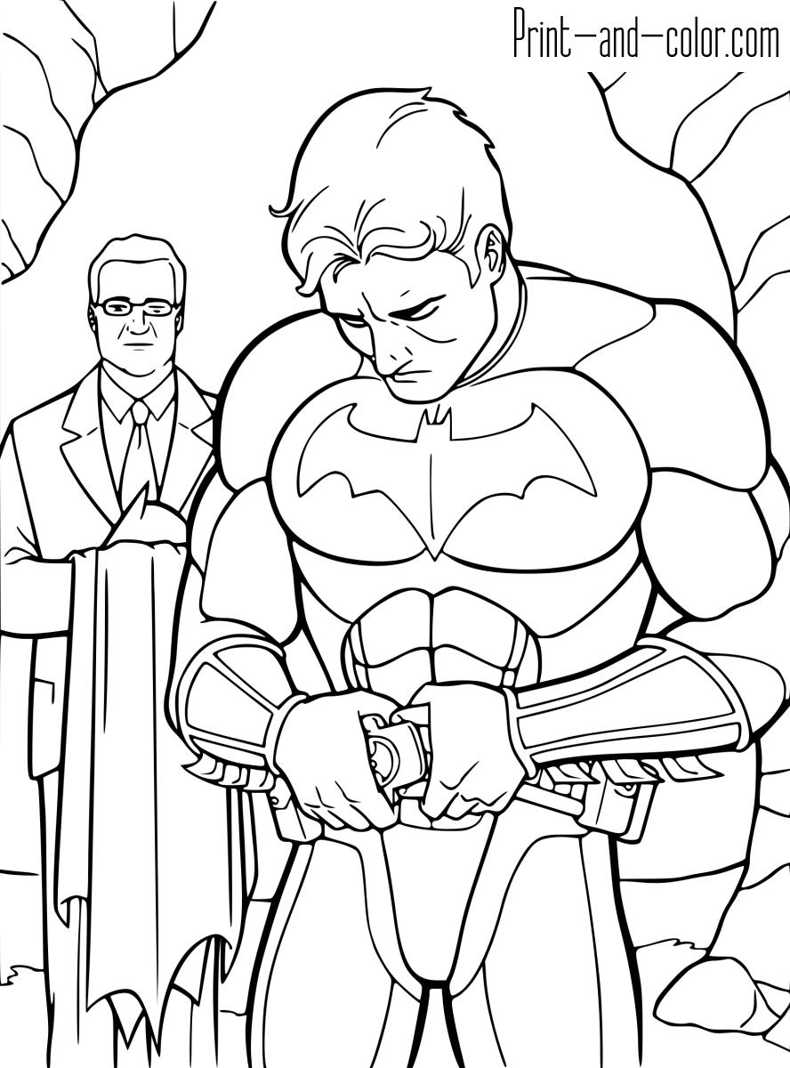 Batman coloring pages | Print and Color.com