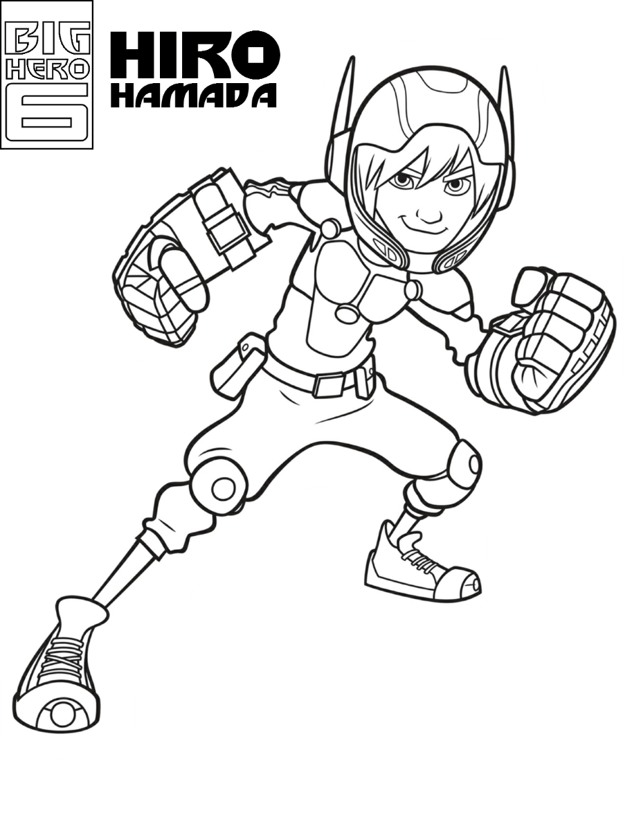 Big Hero 6 coloring pages   Print and Color.com