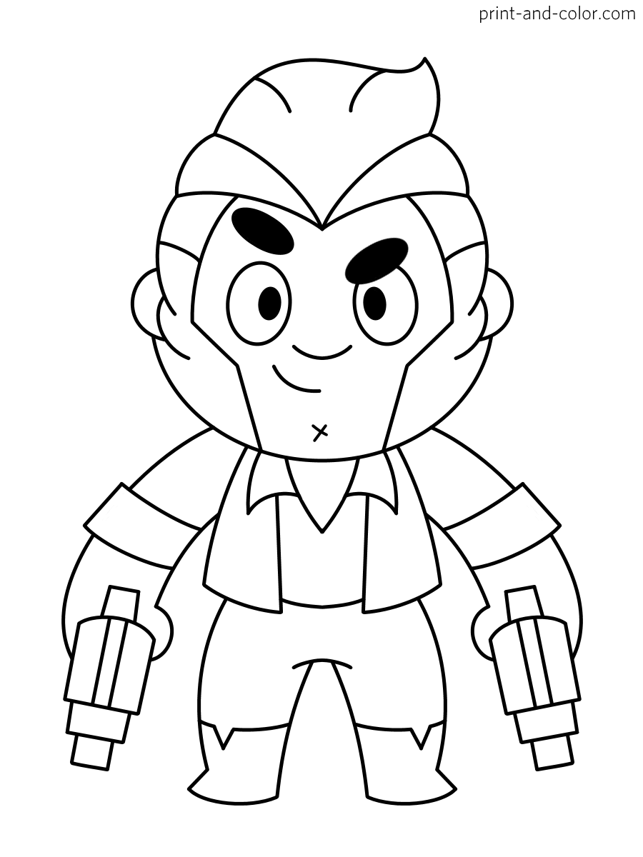 Brawl Stars Coloring Pages Print And Color Com