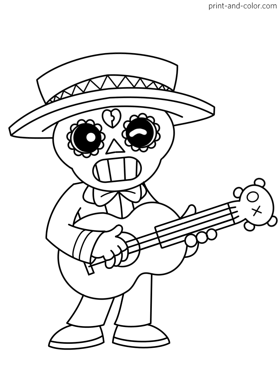 brawl stars coloring pages  print and color