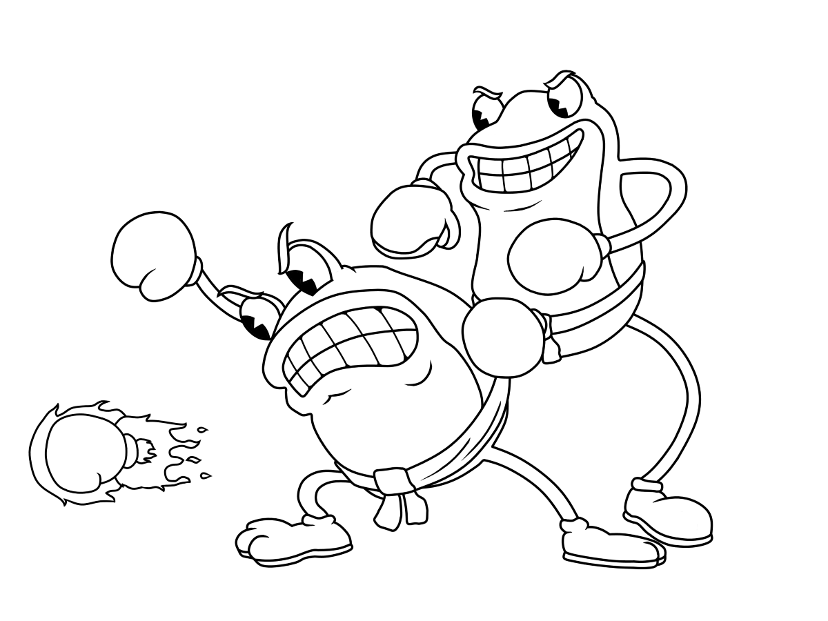 Cuphead coloring pages | Print and Color.com