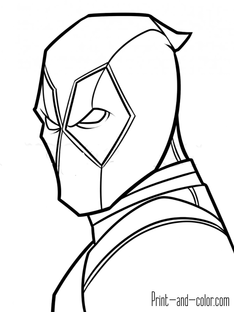 Deadpool coloring pages   Print and Color.com