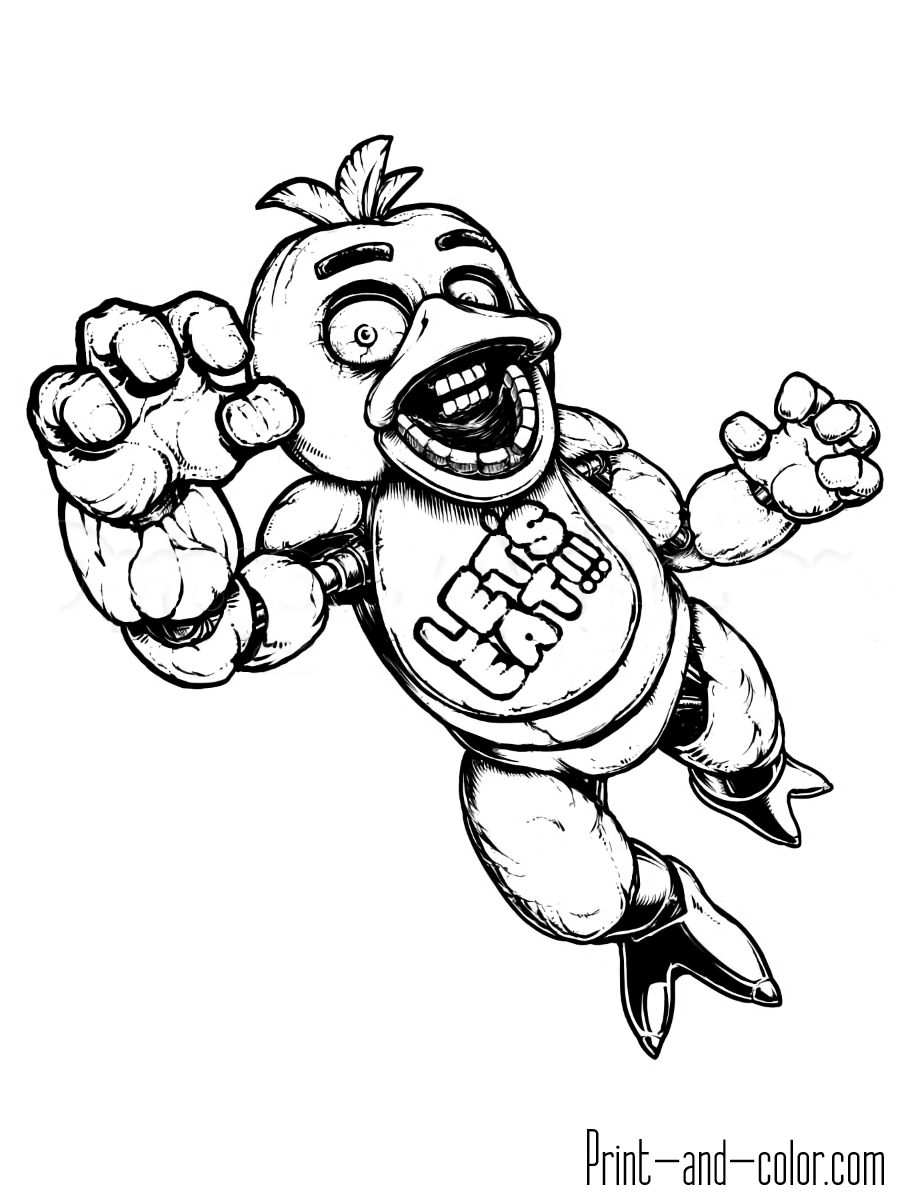 This is a photo of Five Nights at Freddy's Coloring Pages Printable for pinkie's coloring page