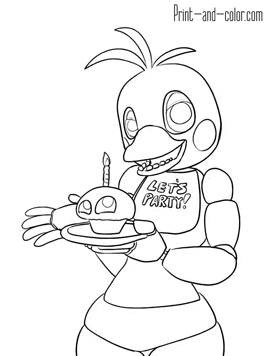 Five nights at freddy's coloring pages   Print and Color.com