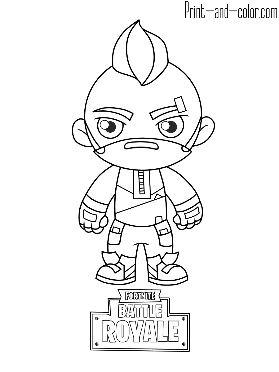 Fortnite Pickax - Free Coloring Pages
