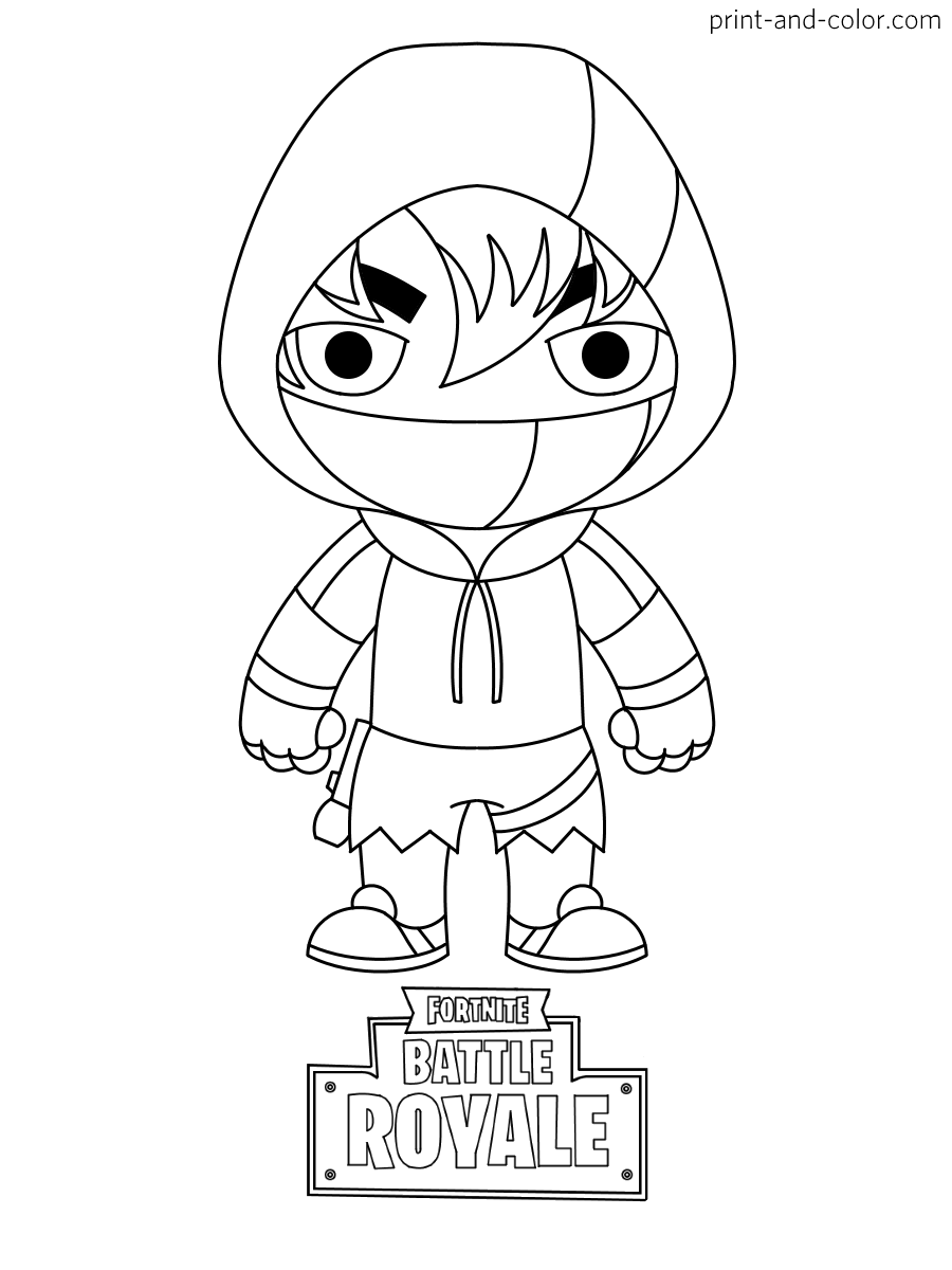 Fortnite Coloring Page Ikonik Skin Drawing
