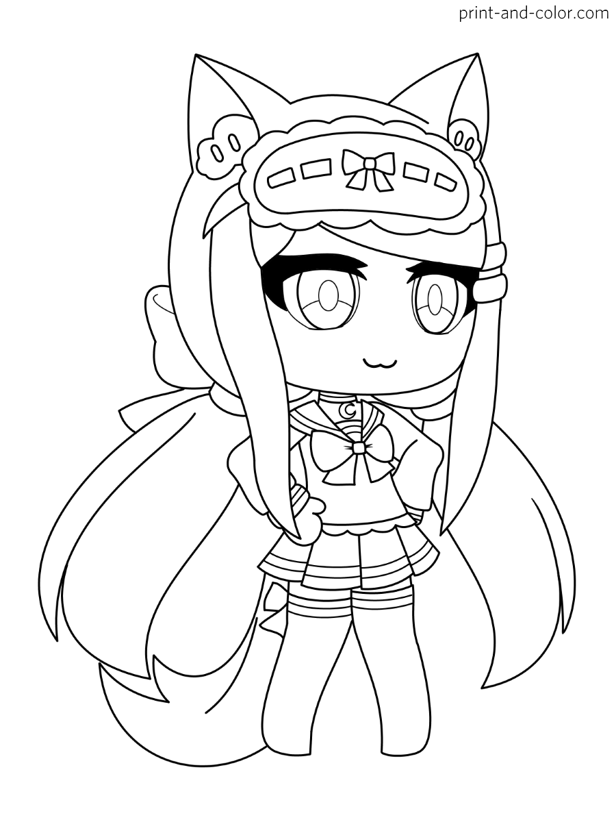 Gacha Life Coloring Pages Print And Color Com
