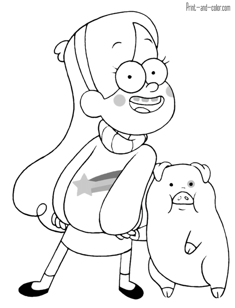 Gravity Falls coloring pages | Print and Color.com