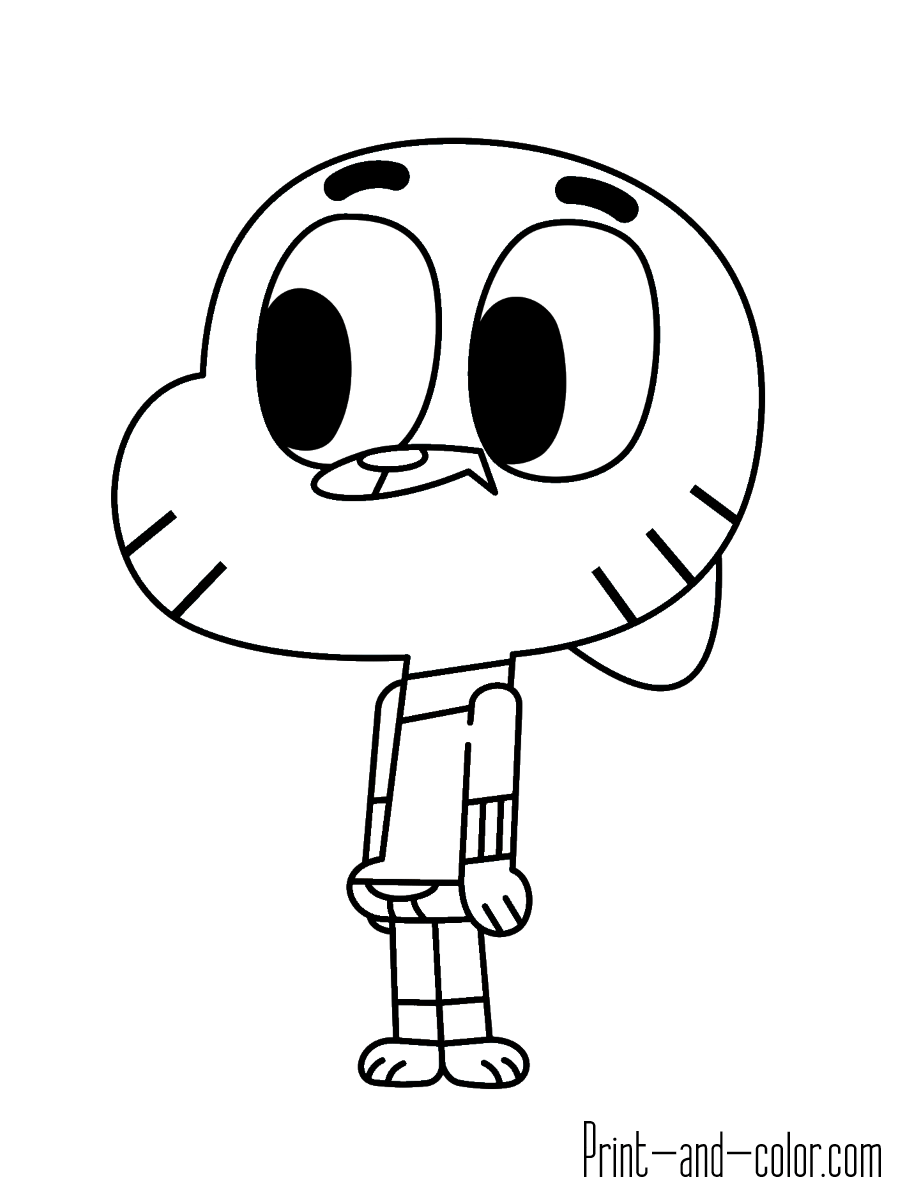 The Amazing World of Gumball coloring pages | Print and ...