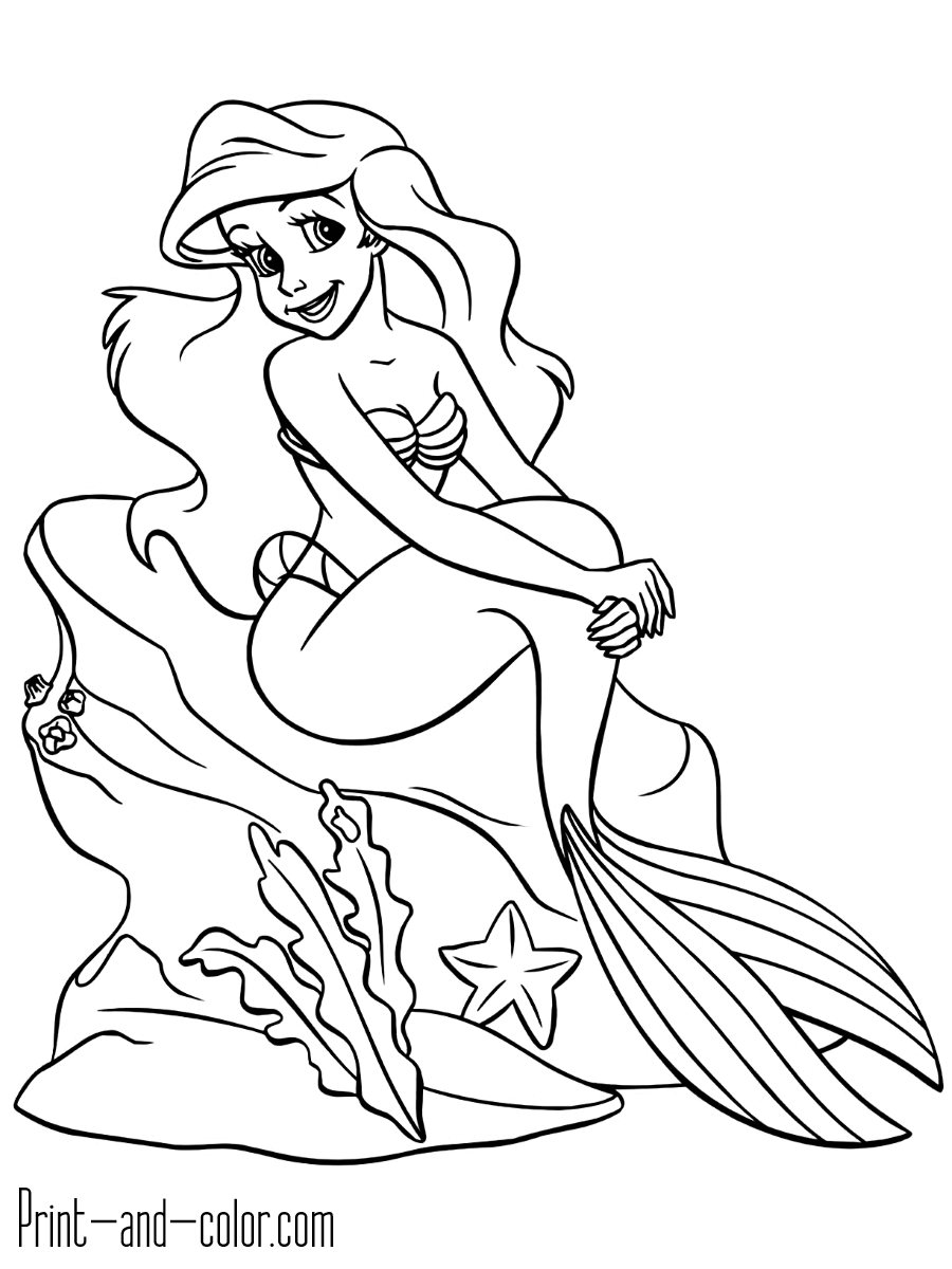 The Little Mermaid Coloring Pages Print And Color Com