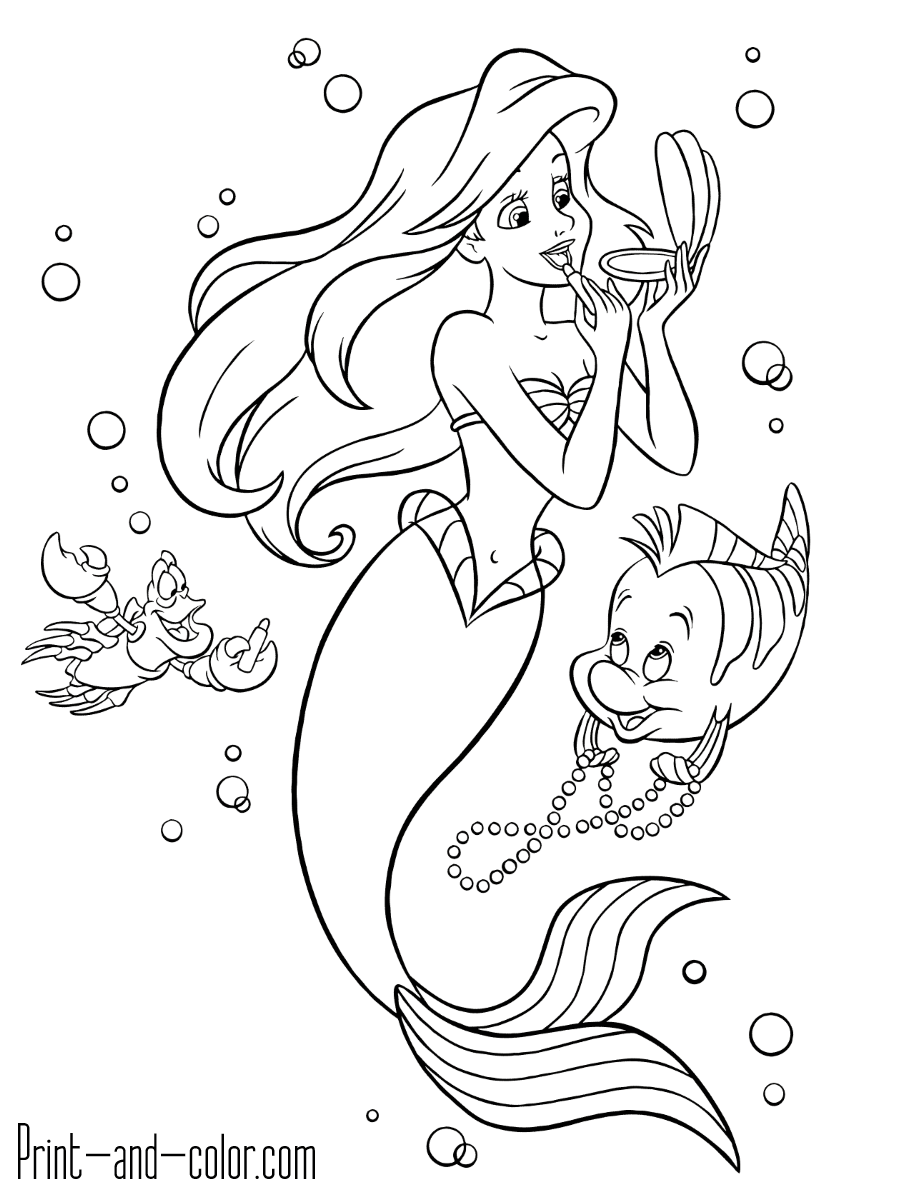 The Little Mermaid coloring pages | Print and Color.com