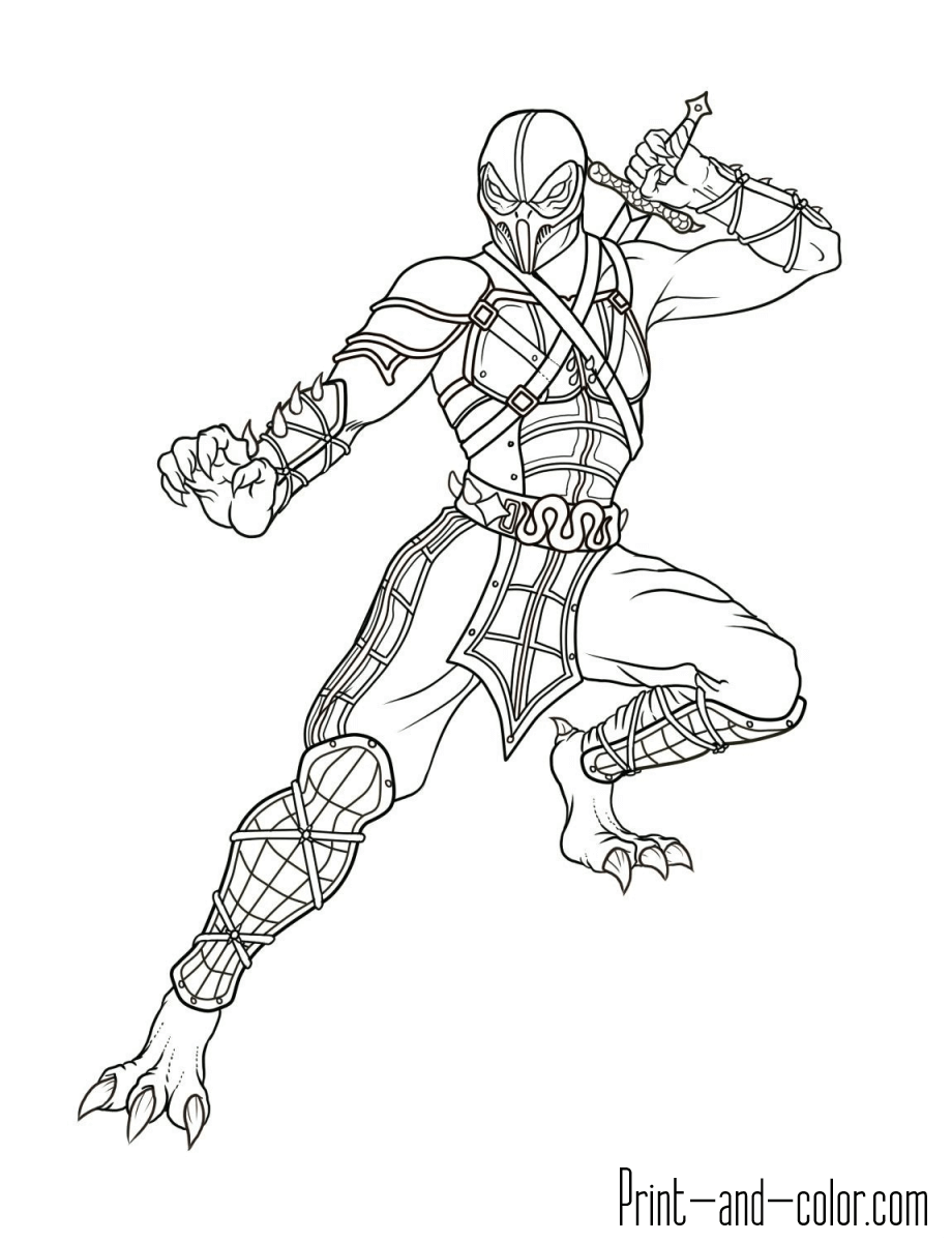 Mortal Kombat coloring pages | Print and Color.com