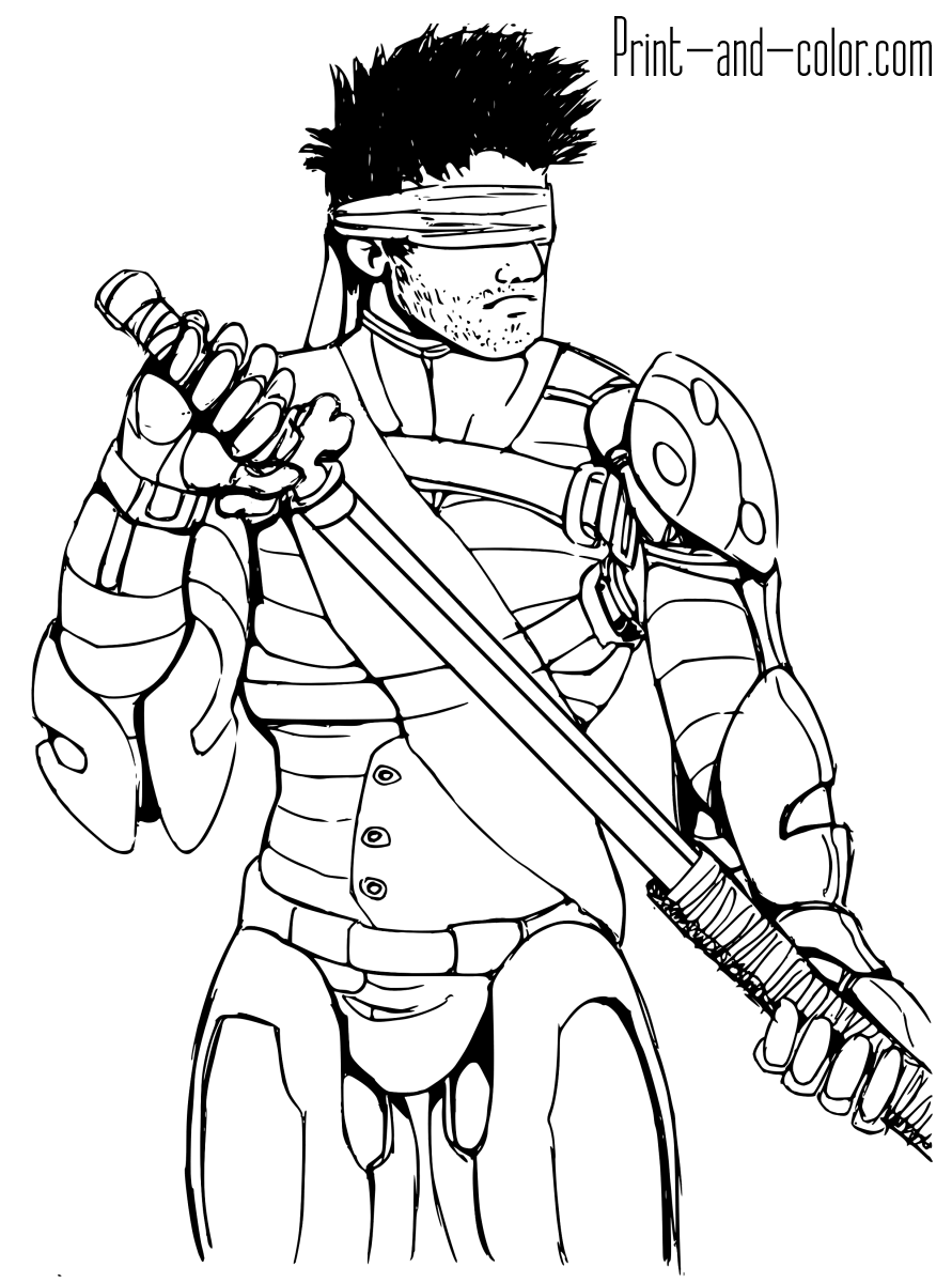 Mortal Kombat coloring pages | Print and Color.com