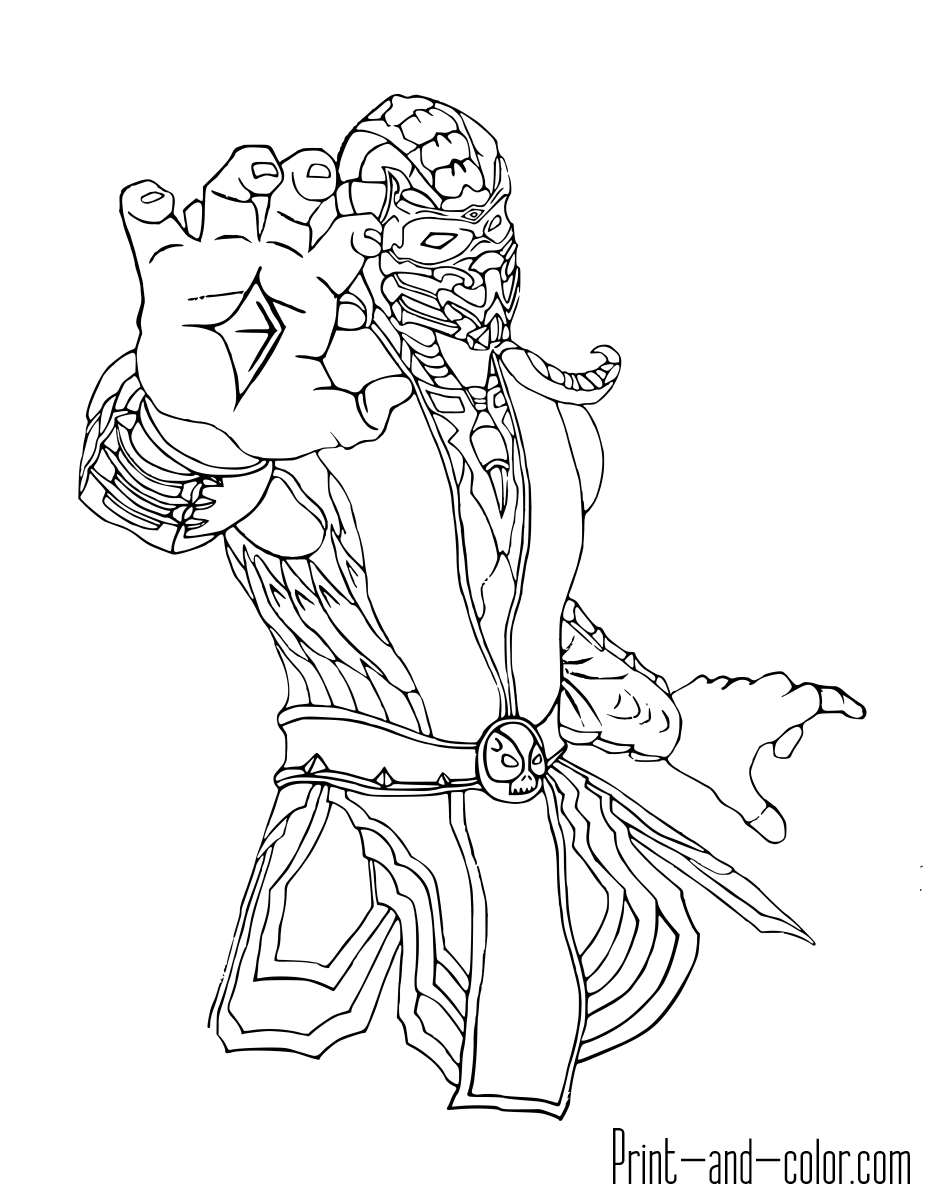 It is a graphic of Striking Mkx Scorpion Coloring Page