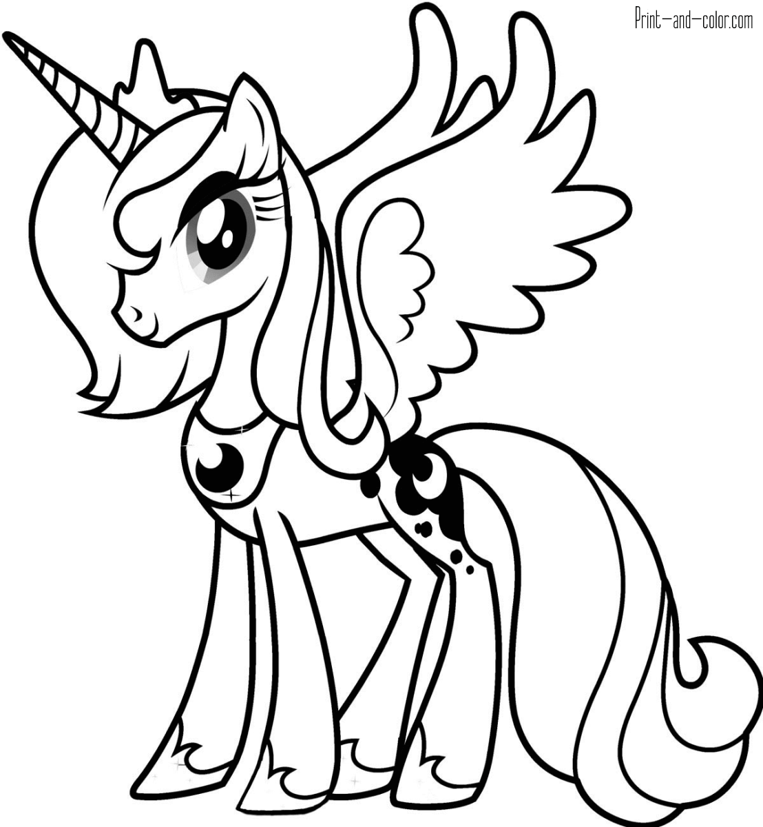 My Little Pony Coloring Pages Print And Color Com