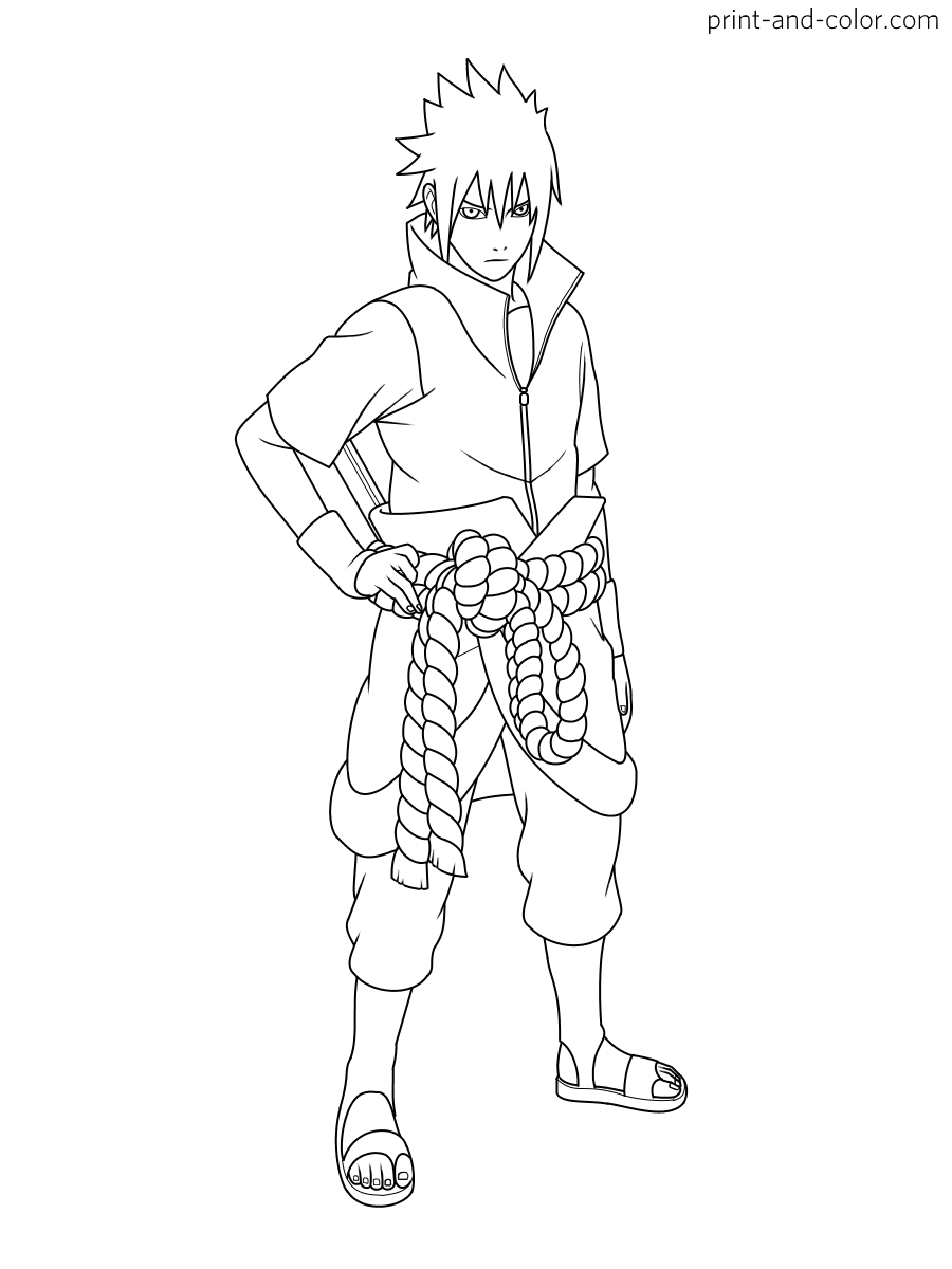 Naruto Coloring Pages Print And Color Com