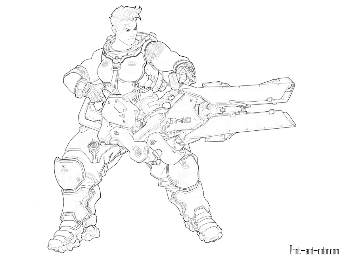 This is a picture of Soft Overwatch Coloring Sheets