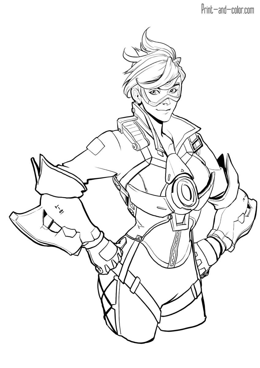 This is a photo of Dynamic Overwatch Coloring Sheets