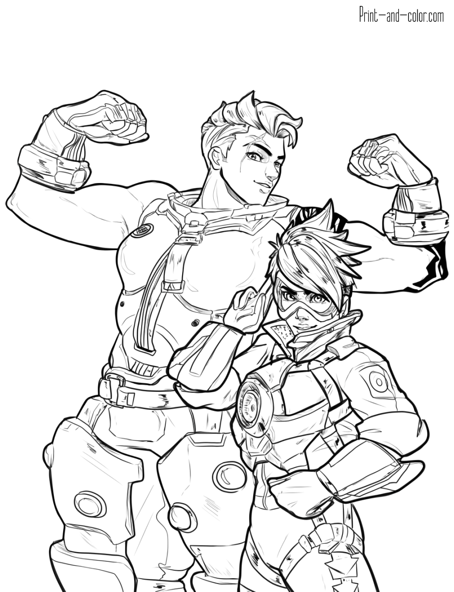 This is a photo of Versatile Overwatch Coloring Sheets