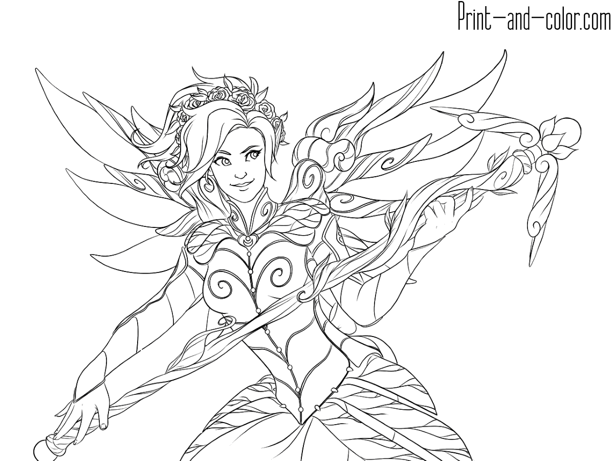 It's just a picture of Superb Overwatch Coloring Sheets