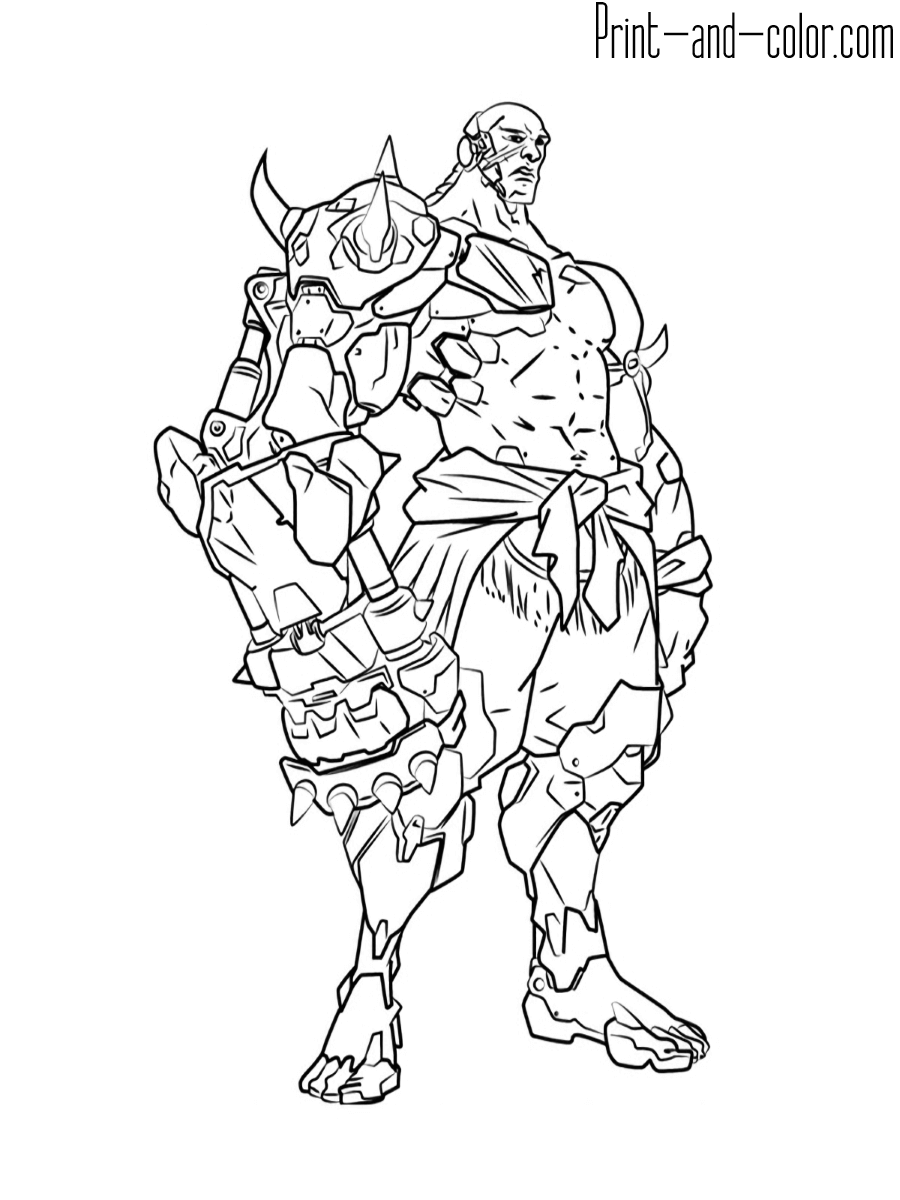 It is an image of Gorgeous Overwatch Coloring Sheets