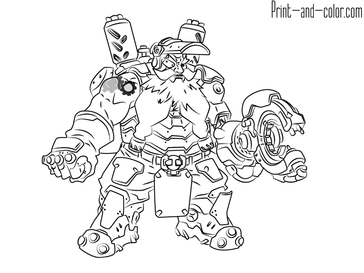 This is a graphic of Exceptional Overwatch Coloring Sheets