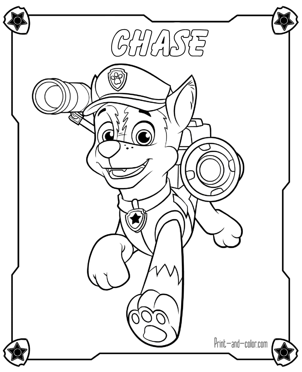 Paw Patrol Coloring Pages Print And Color Com