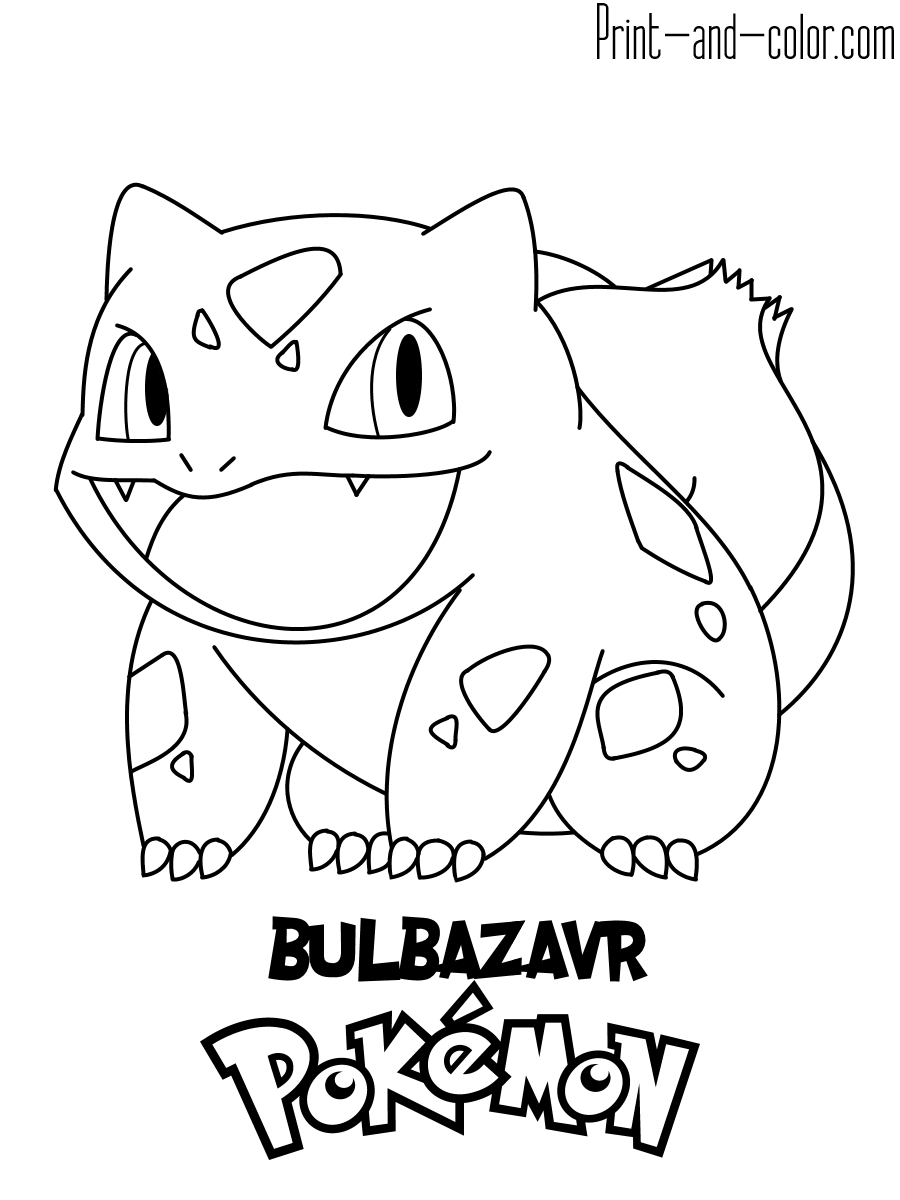 Pokemon Coloring Pages Print And Color Com