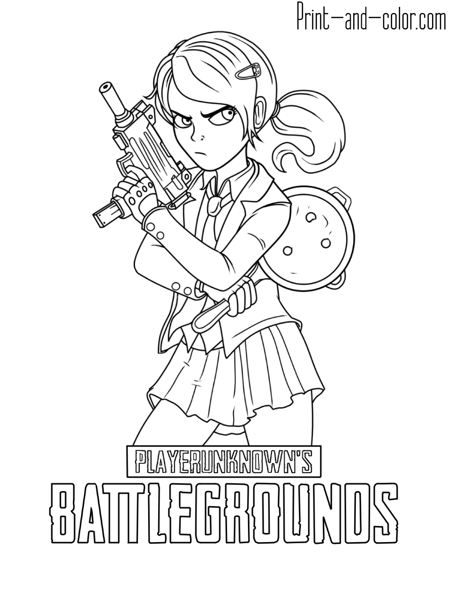 Playerunknown's Battlegrounds coloring pages | Print and ...