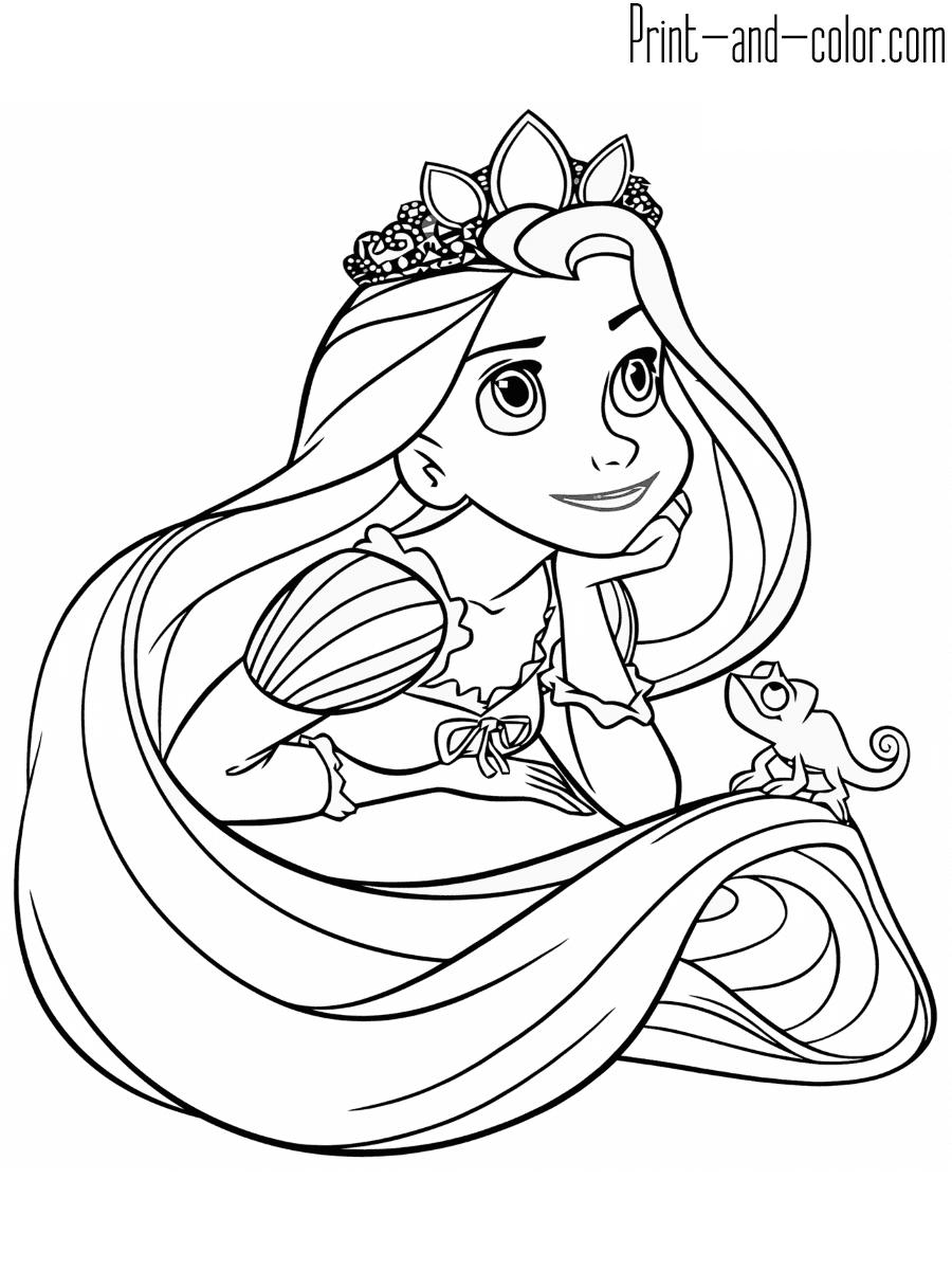 Rapunzel coloring pages | Print and Color.com