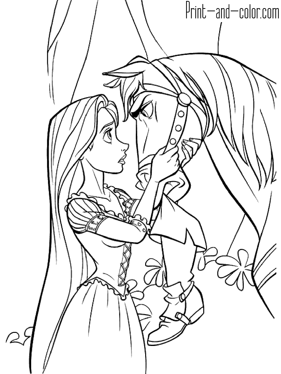 Rapunzel coloring pages | Print and Color.com