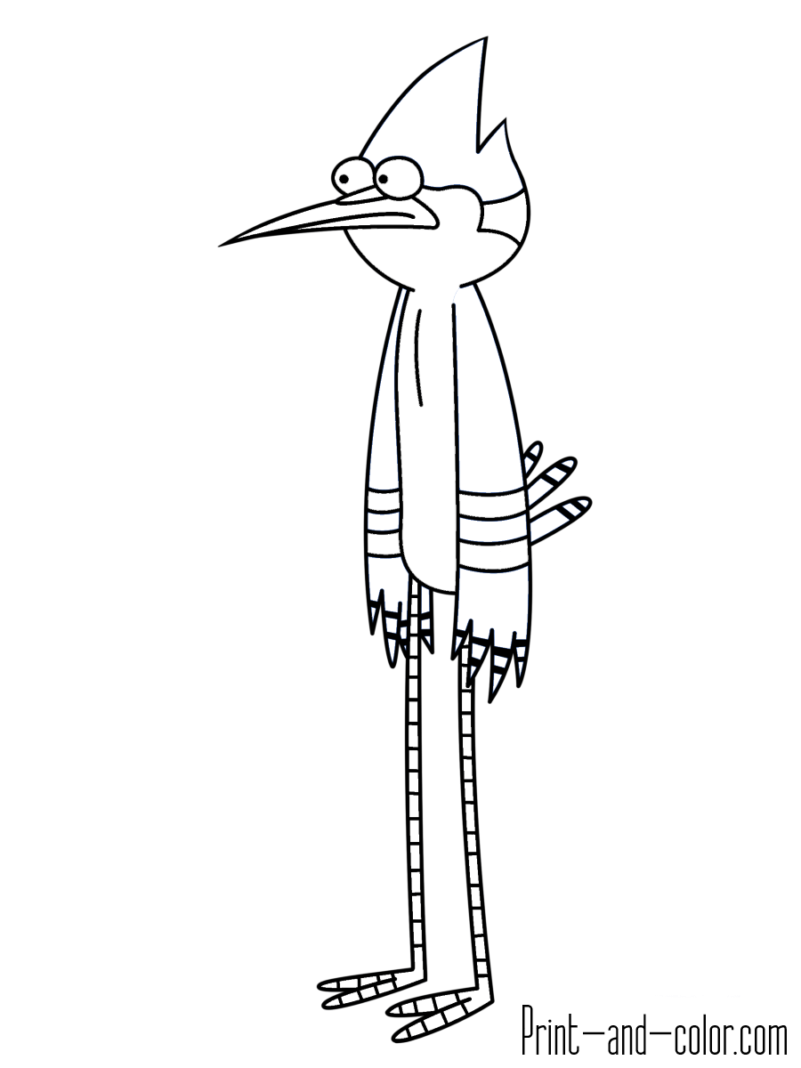 Regular show coloring pages | Print and Color.com