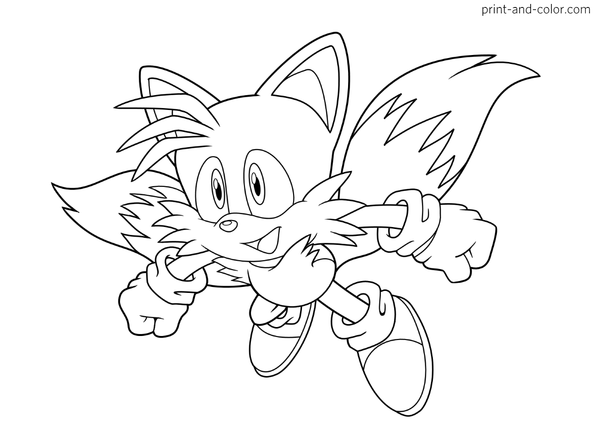 Sonic the hedgehog coloring pages | Print and Color.com