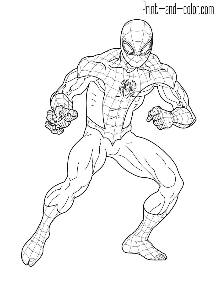 Spider Man Coloring Pages Print And Color Com