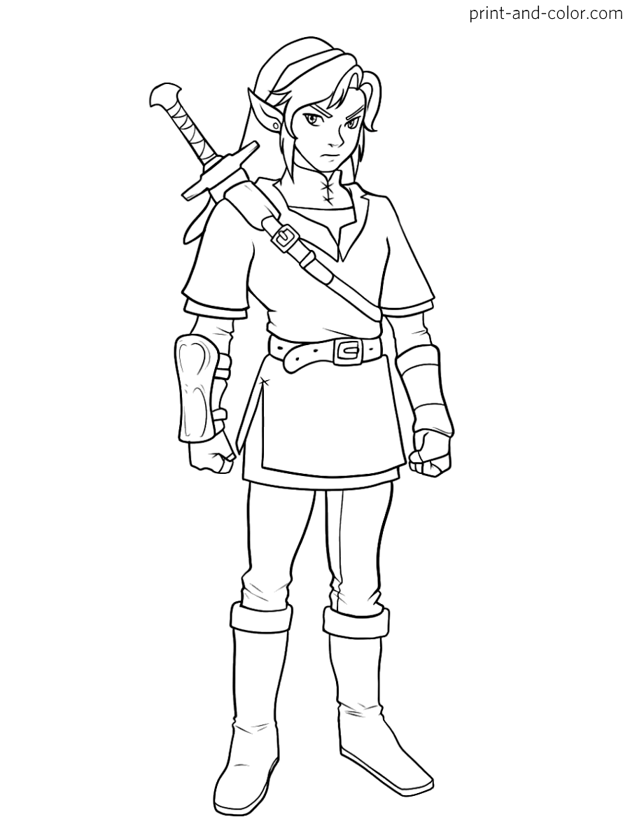 Super Smash Bros Coloring Pages Print And Color Com