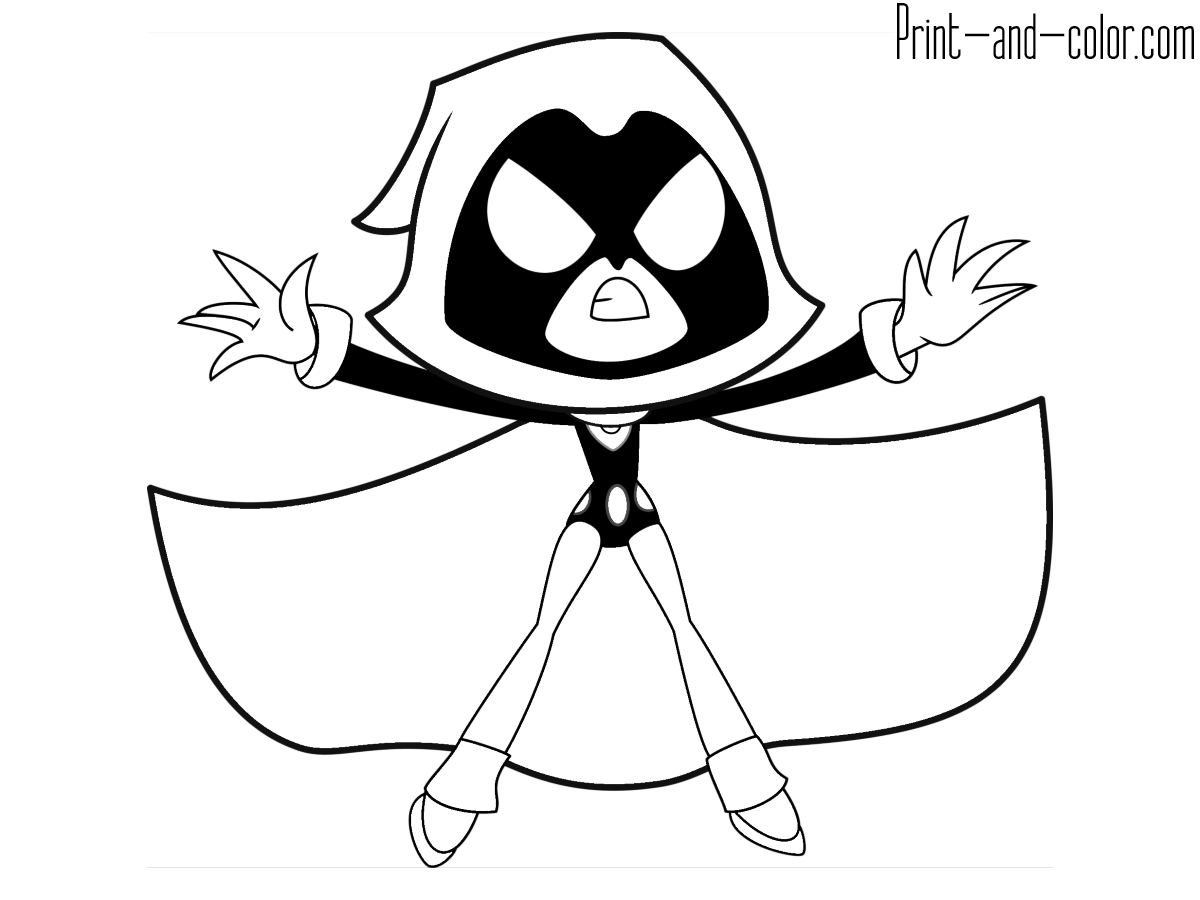 Teen Titans GO! coloring pages | Print and Color.com