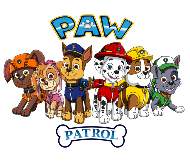 To Paw Patrol coloring pages