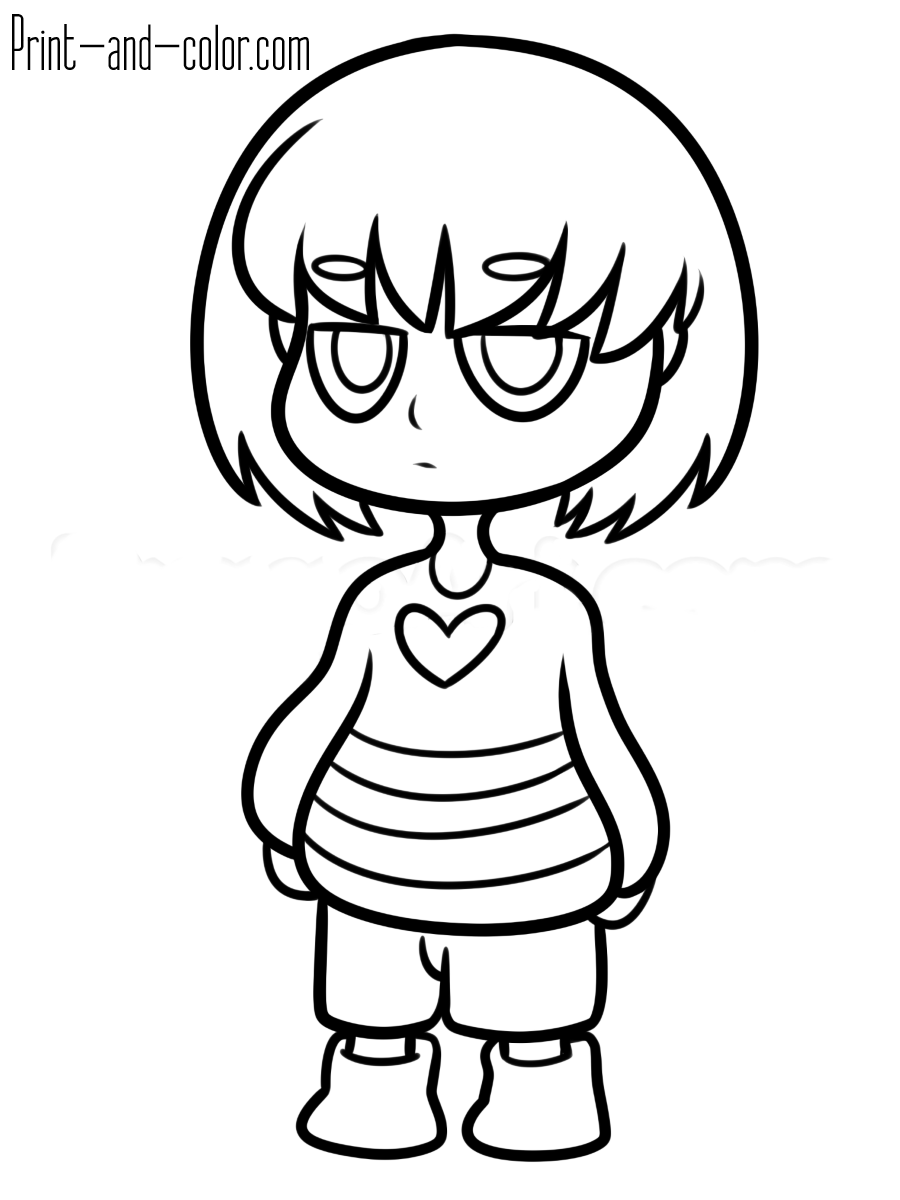 Undertale Coloring Pages Print And Color Com