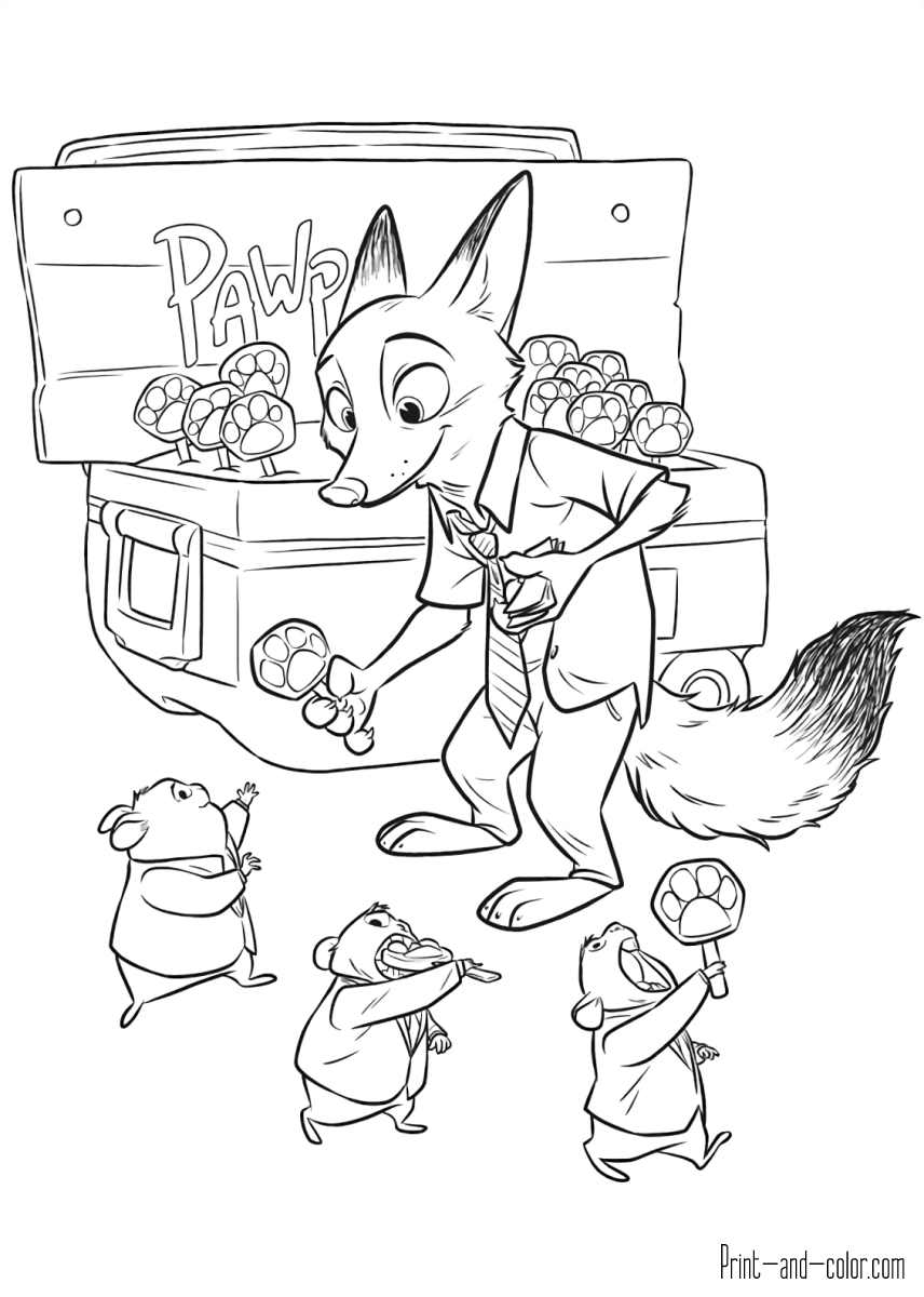 Zootopia coloring pages   Print and Color.com