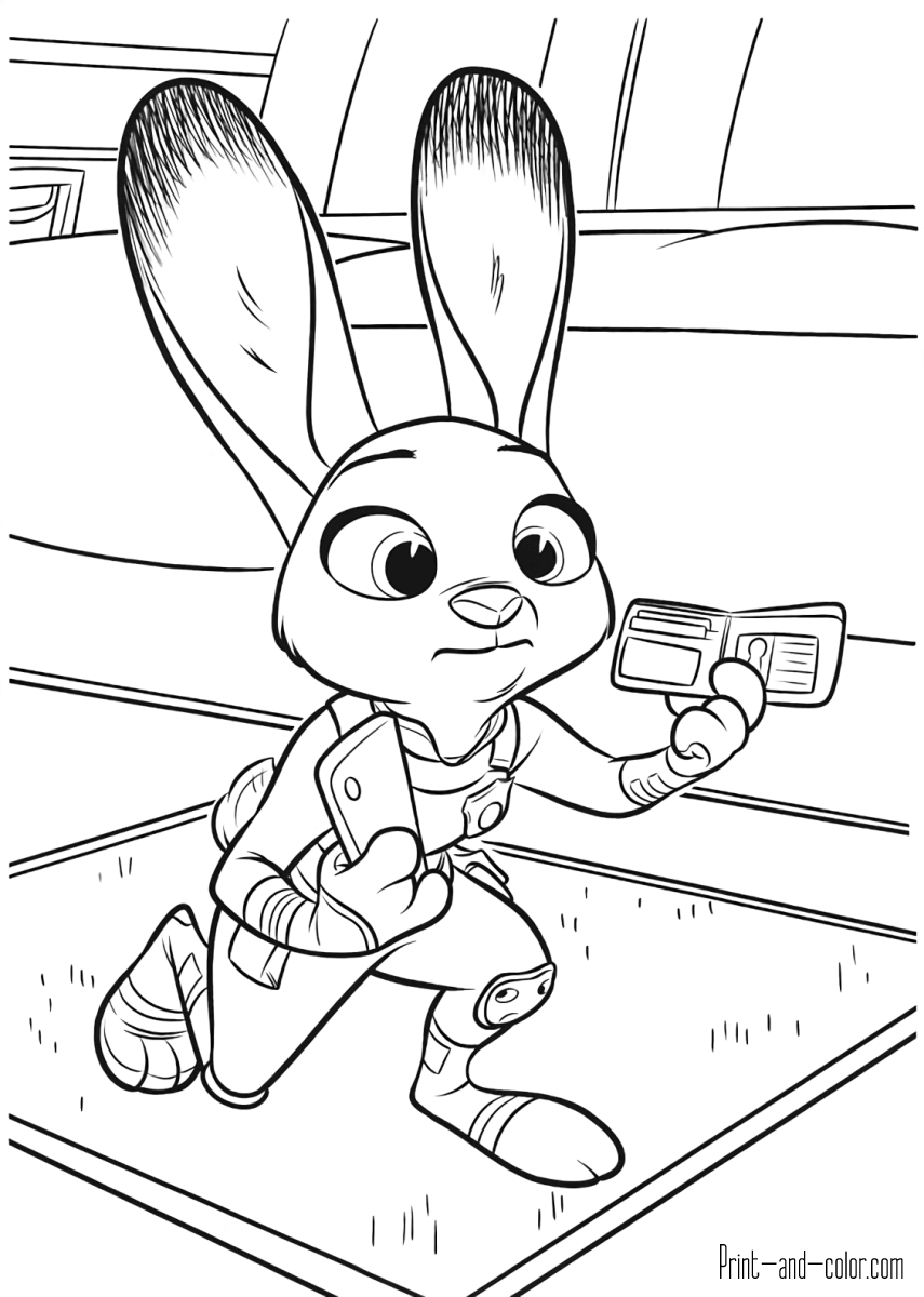 Zootopia coloring pages | Print and Color.com
